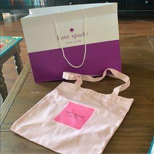 NEw Kate Spade tote pink beach bag